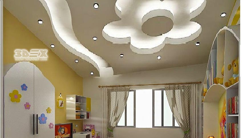 Pop hall ceiling design for Living hall design ideas
