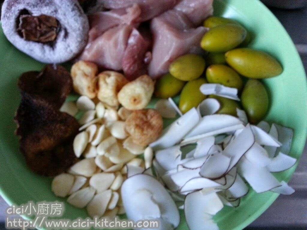 cici小廚房: cici靚靚湯水: 柿餅青欖海底椰湯 - Staub煮理