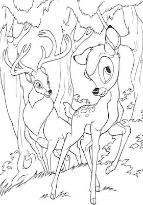 Gambar Mewarnai Bambi - 9
