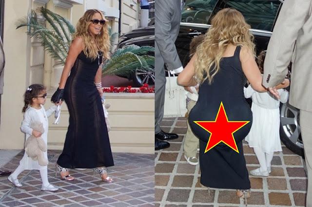 Mariah Carey com roupa transparente (Imagem: Reprodução/Internet)