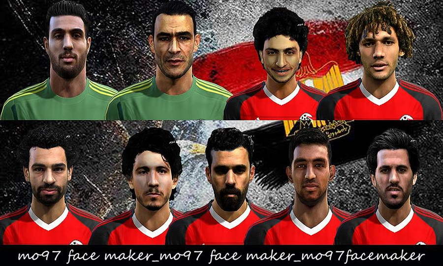 PES 2013 EGYPT NT BIG FACEPACK 2017/18 by Mo97 Facemaker
