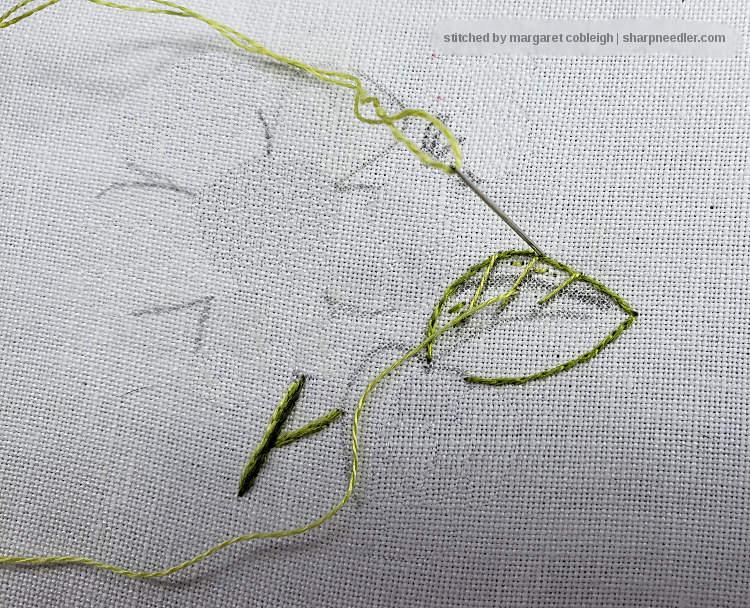 The Sharp Needler Thread Painting Basics Leaves And Stems