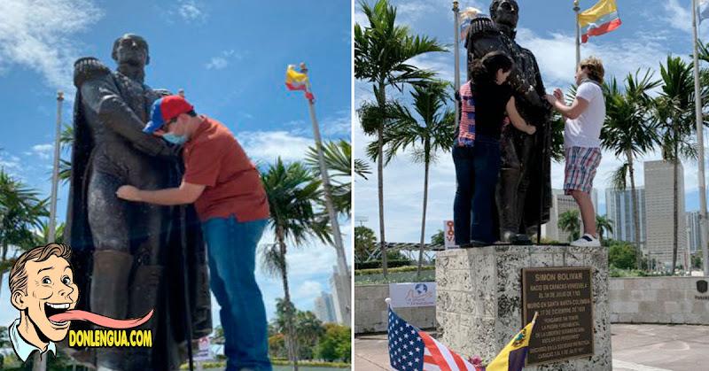En Estados Unidos rayaron estatua de Bolívar por ser un Masón Blanco Esclavista