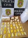Deic/ Dise prende homem com 111 pinos de cocaína e pasta base da droga em Araçatuba