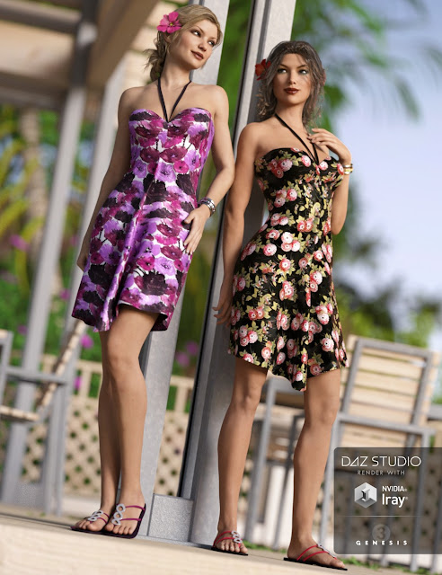 Maui Days Outfit for Genesis 3 Female