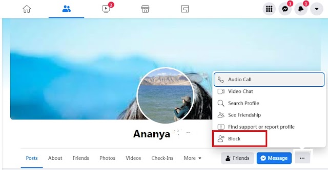 How to block a person in Facebook in Hindi