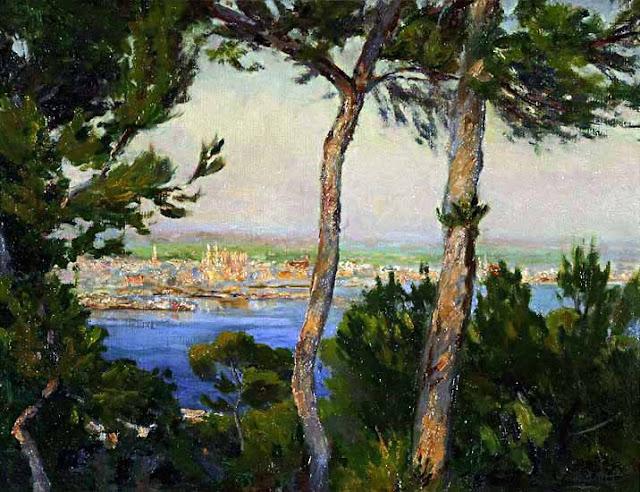 Juan Fuster Bonnin, Vista de Mallorca, Mallorca en Pintura, Mallorca pintada, Paisajes de Mallorca