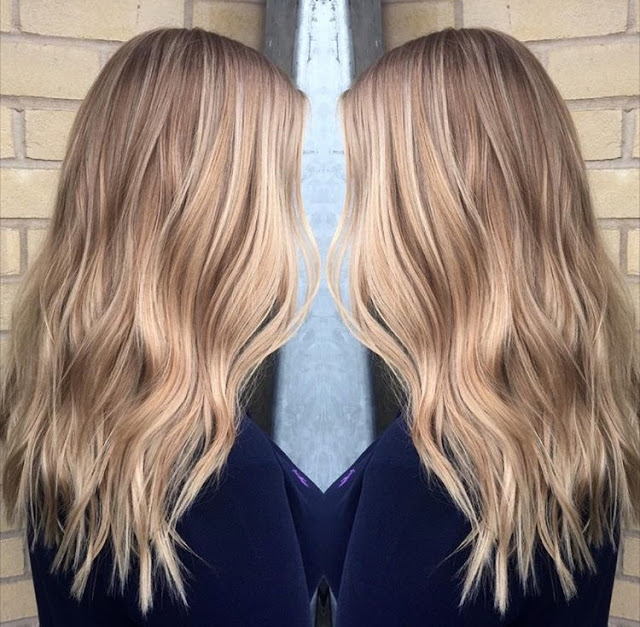 Balyage natural blonde