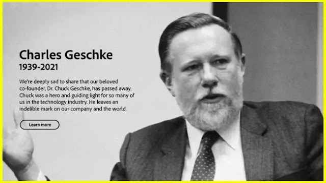 Adobe co-founder and PDF co-inventor Dr. Charles Geschke passed away
