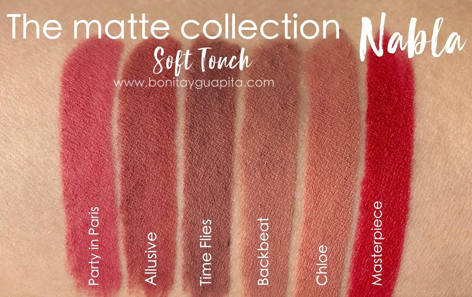 nabla soft touch swatches