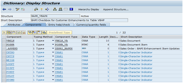 SAP ABAP: BADI: Add Item Tab Custom Fields in VA01,VA02,VA03