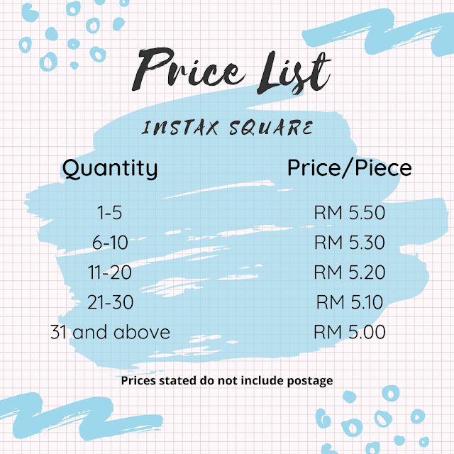 instax FUJIFILM Printing Service - instax Mini & instax Square - instax Square price list