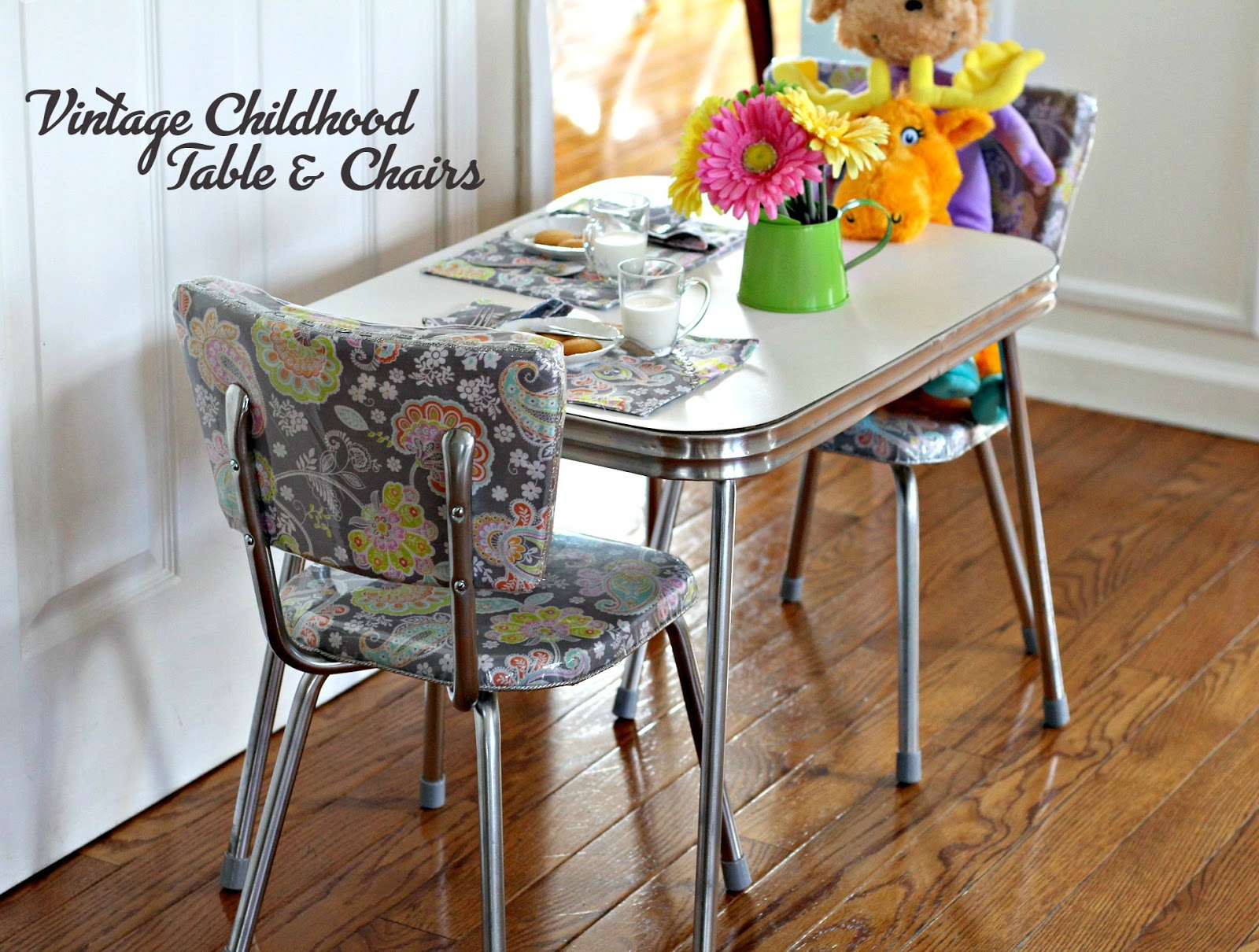 Vintage Childhood Chrome Table And Chairs Restoration Grateful Prayer Thankful Heart