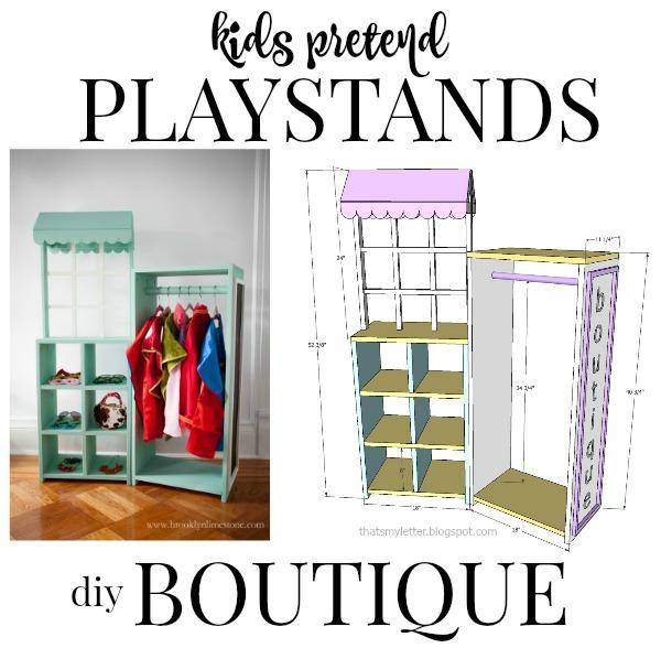 kids pretend playstand boutique