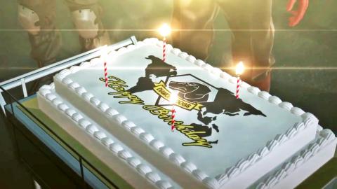 Tarta de cumpleaños MGS 5 V