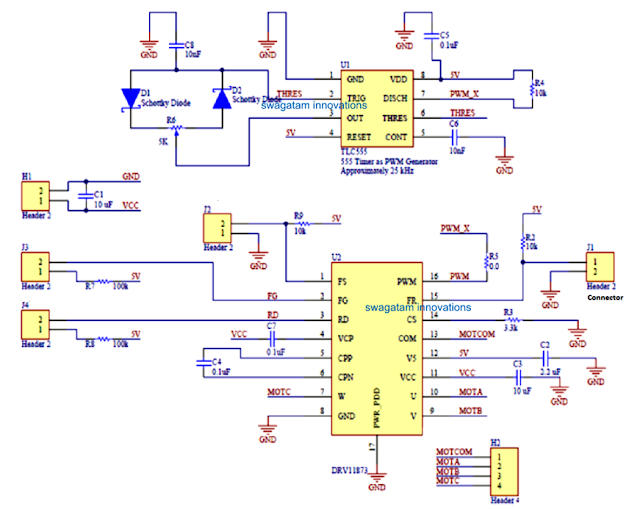 quadcopter motor driver controller using the DRV11873 IC