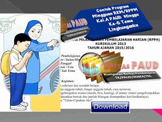 Contoh Program Mingguan RKM/RPPM Kel.A PAUD  Minggu Ke-5 Tema  Lingkunganku