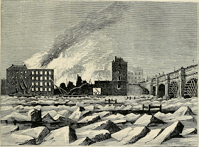 Frost on the Thames 1814 from Old and New London by E Walford (1878)