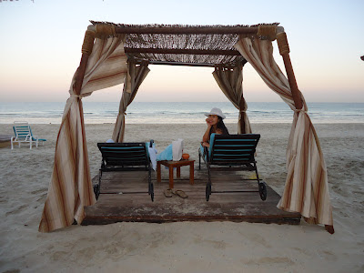 Lady at the UAE's best private beach