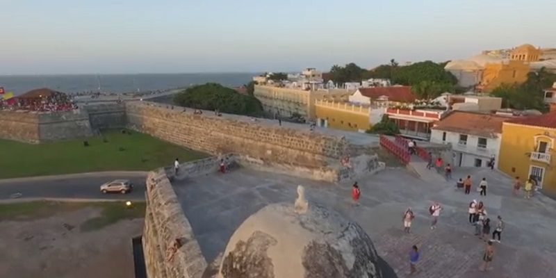 Cartagena tourist place in south america