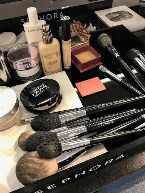 make up application at Sephora