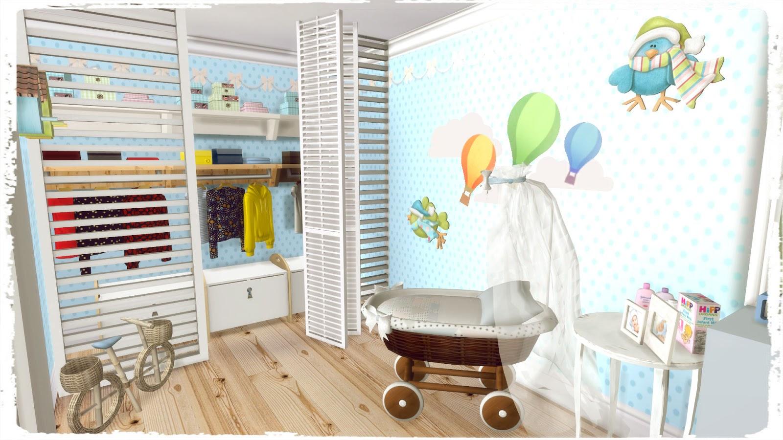 Sims 4 toddler bedroom build decoration dinha for Schedule j bedroom description