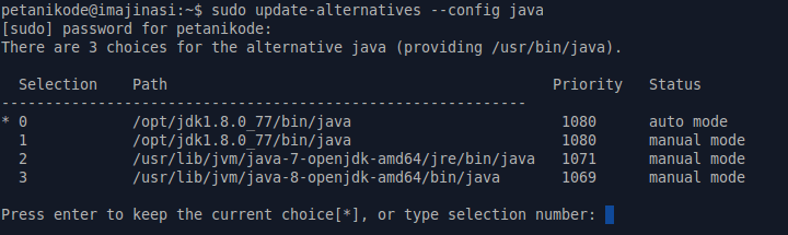 Pilihan Alternatif Java