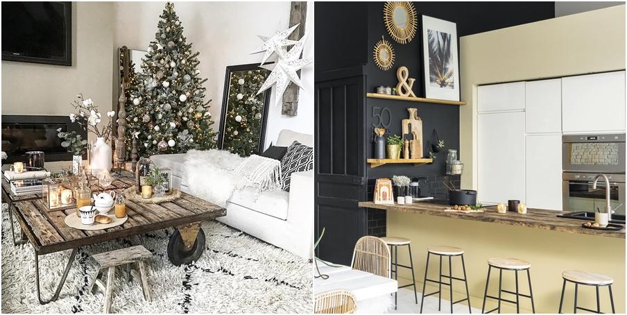 Święta w pięknym mieszkaniu w dawnej stodole, wystrój wnętrz, wnętrza, urządzanie domu, dekoracje wnętrz, aranżacja wnętrz, inspiracje wnętrz,interior design , dom i wnętrze, aranżacja mieszkania, modne wnętrza, styl rustykalny, styl skandynawski, mieszkanie w stodole, Święta, Boże Narodzenie, rustic style, Scandinavian style, flat in the barn, Holidays