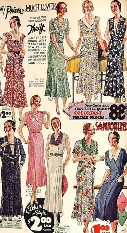 revista moda anos 30