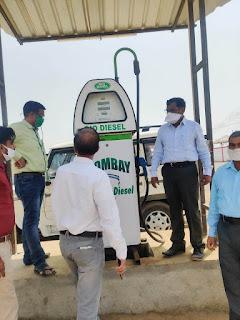 जिला प्रशासन ने झूलेलाल तथा मुम्बई बायो डीजल पंप को किया सील