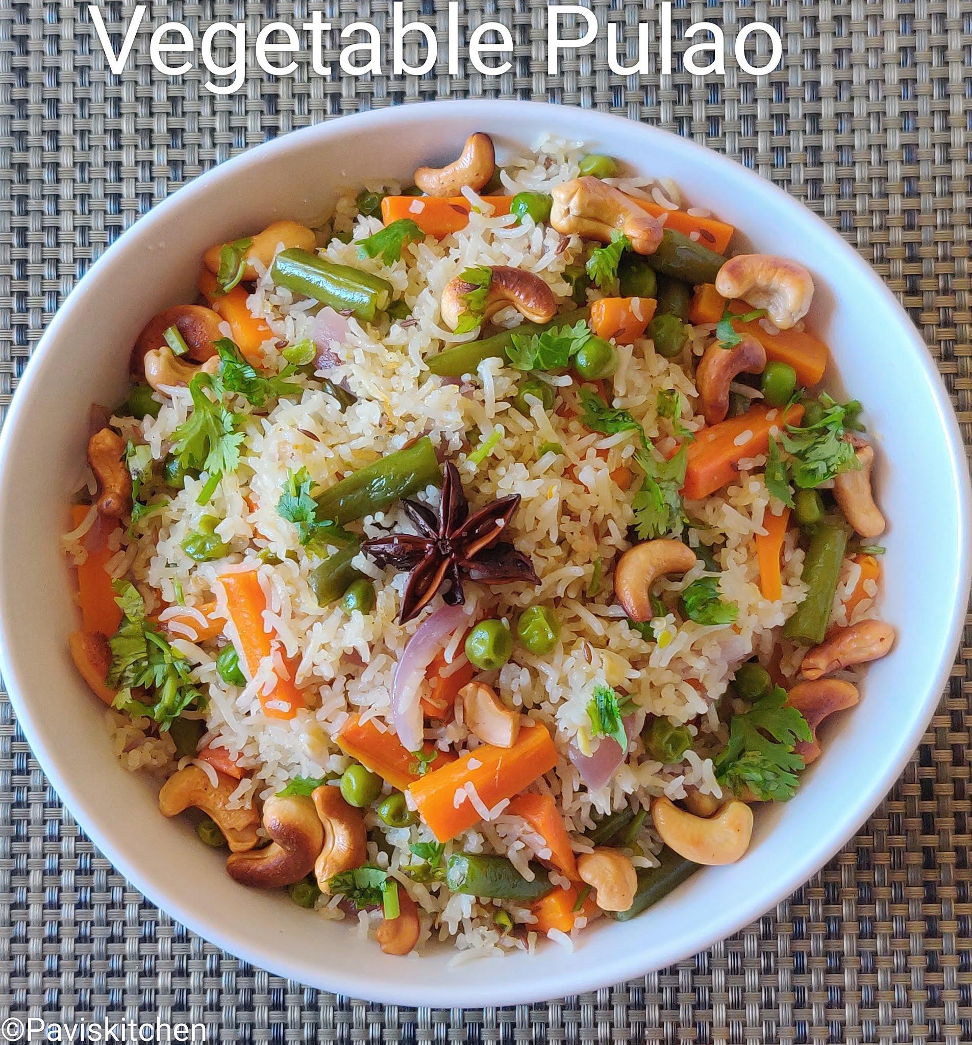 Pulao Recipe | Vegetable Pulav Recipe | One Pot Veg Pulao
