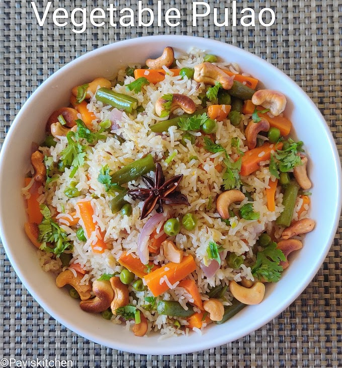 veg pulao recipe | vegetable pulao recipe | how to make veg pulav