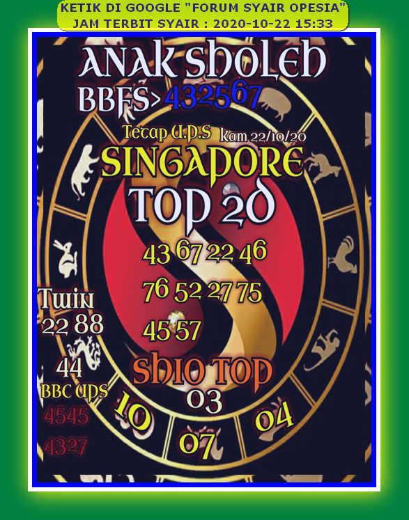 Kode syair Singapore Kamis 22 Oktober 2020 71