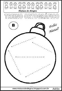 Treino ortográfico símbolos do natal bola