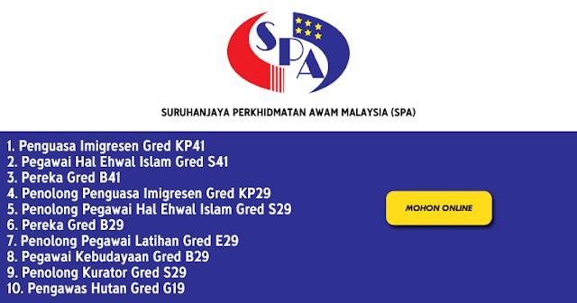 mohon jawatan spa malaysia 2021