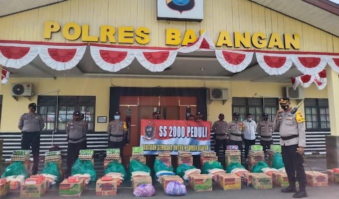 Alumni Akpol 2000 Kirimkan Bansos Bagi Korban Banjir di Kalsel