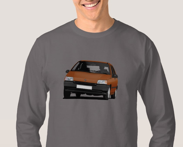 Zazzle Renault Clio illustrations on t-shirt
