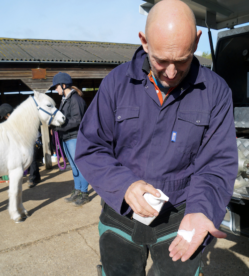 hand cleaning biosecurity