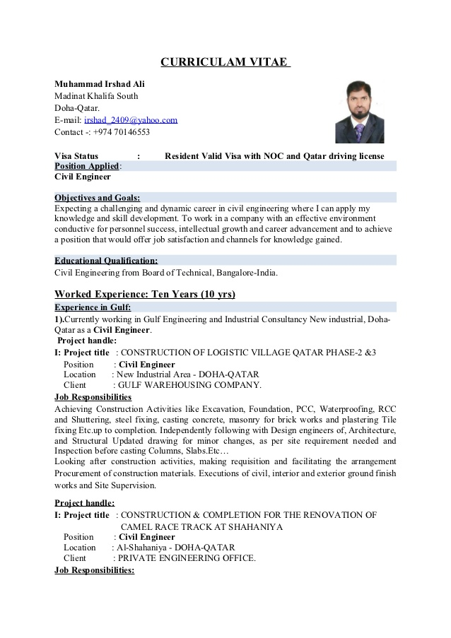 Best Civil Engineering Project Manager Resume Ideas - Office ...