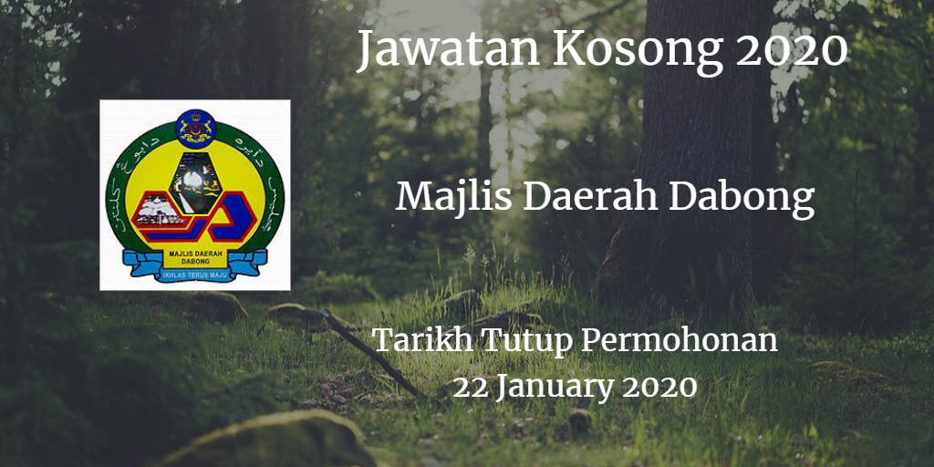 Jawatan Kosong MD Dabong 22 January 2020