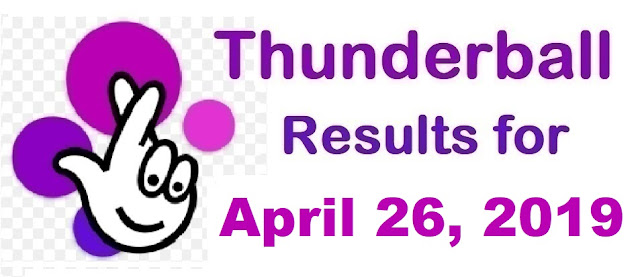 Thunderball results for Friday, April 26, 2019