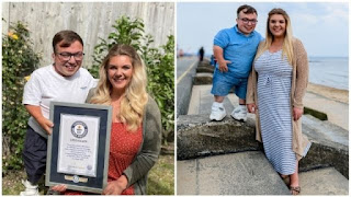 World Record For The Biggest Height Difference Uk Couple Breaks Guinness
