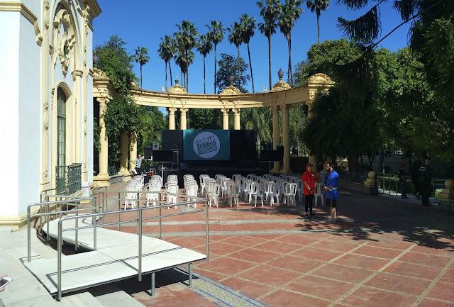 Uno de los escenarios donde se celebraba un evento sobre bandas sonoras de cine