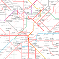 network map of Milan trams from Urbanrail.net