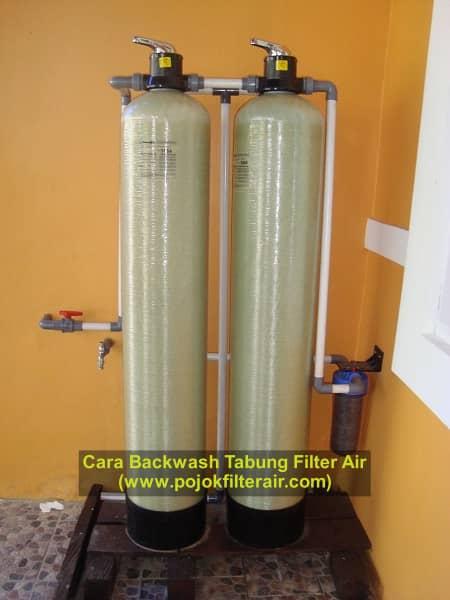 cara membersihkan tabung filter air