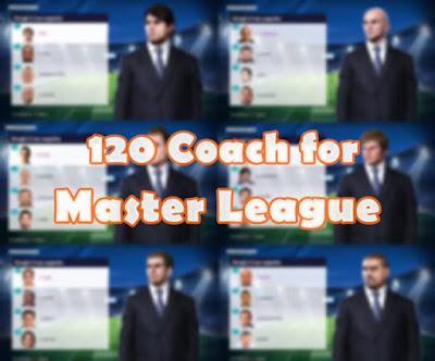 PES 2020 Master League Coach Faces (120 Managers)