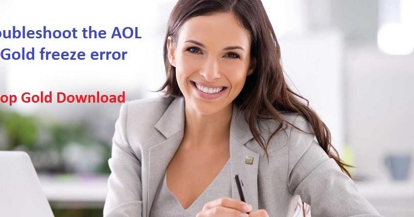 How to troubleshoot the AOL Desktop Gold freeze error?