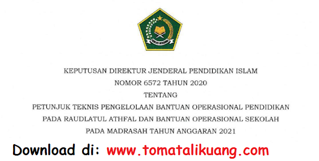 petunjuk teknis juknis bos madrasah mi mts ma dan bop ra tahun 2021 pdf tomatalikuang.com