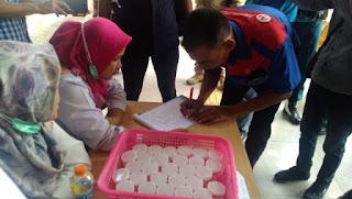 Kapolres Ciko Pantau langsung Kegiatan test Urine Para Awak Bus Terminal Harjamukti