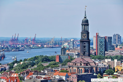 Sankt Michaelis Kirche Hamburg, Hamburger Michel von oben
